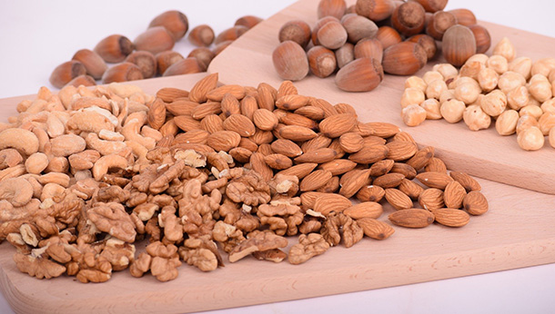 board full of nuts